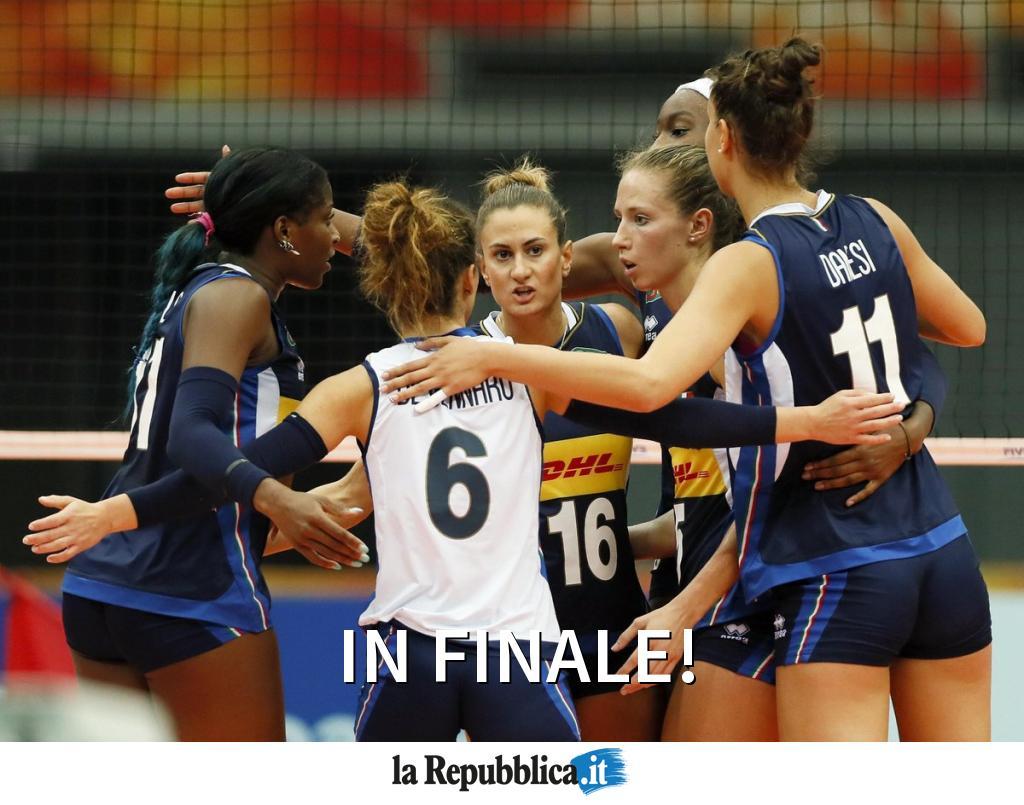 Trionfo Italia, Cina ko al tie break. Le Azzurre si prendono la finale! #ItaliaCina 3-2 #VolleyMondiali18 #FIVBWomensWCH