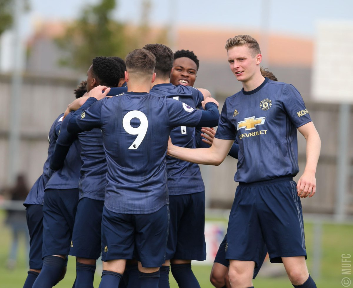 More scenes like this, please! 🤗 Best of luck to #MUAcademy Under-23s, who face Sunderland in #PL2 tonight...