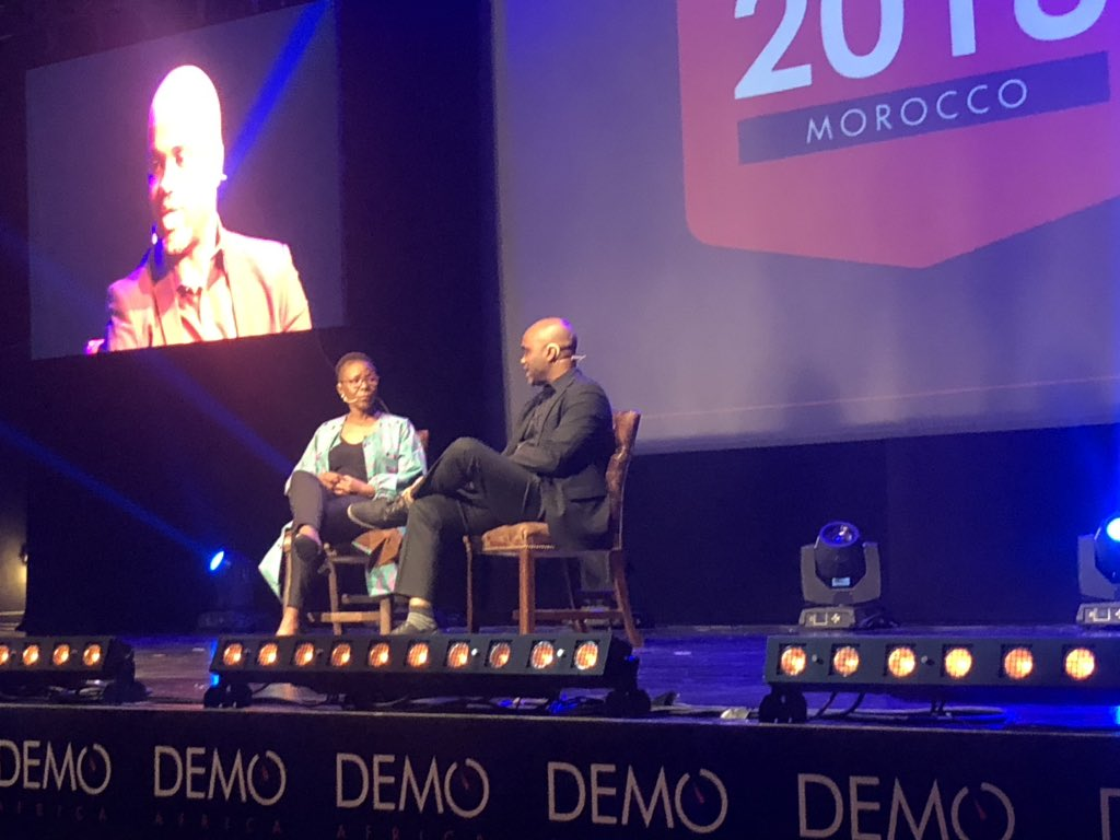 @micah_found @DEMOAfrica day 2: Polo Letheka Radebe IDF capital South Africa with Stephen Lions@Africa on venture funding targeting female tech startups
