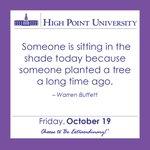 [CALENDAR] #DailyMotivation from Warren Buffett. #HPU365