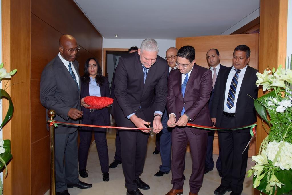 Le Ministre des Affaires Etrangères et de la Coopération internationale, M. #Nasser_Bourita a reçu, le jeudi 18 octobre, le Premier Ministre de #Sainte_Lucie, M. #Allen_Chastanet.#Maroc #MAECI #OECO  - FestivalFocus