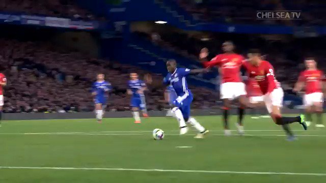 This @nglkante goal against Man Utd... 😍  Exactly four years ago today! https://t.co/Llg8H4ptPX