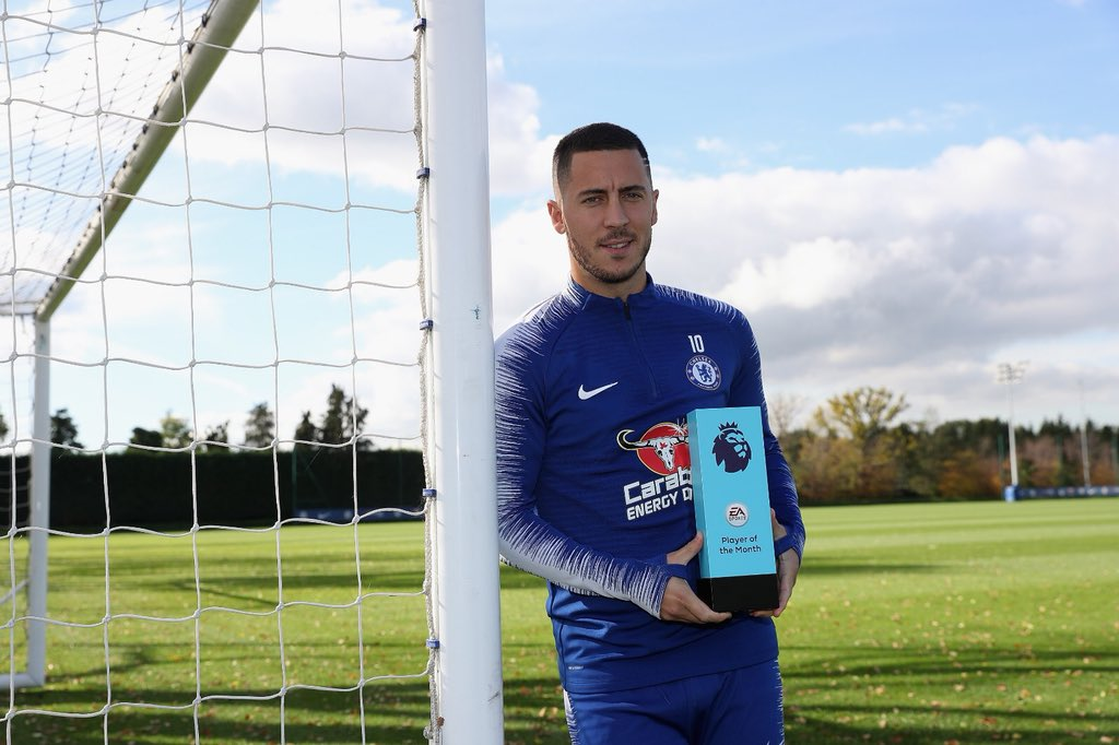 ✔️ Fresh trim ✔ EA Sports Player of the Month award  @HazardEden10 👌