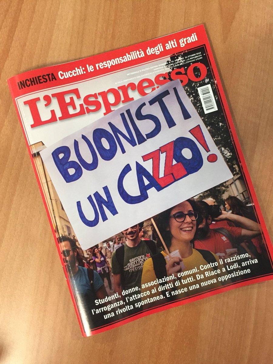 Cari ministri @matteosalvinimi e @luigidimaio questa è la copertina del prossimo numero dell'Espresso. Abbiamo l'impressione che non vi piacerà affatto #BuonistiUnCazzo