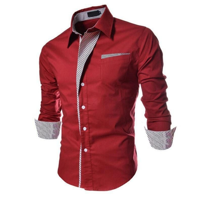 Spring Autumn Features #Shirts New Arrival Long Sleeve Casual Slim Fit Male Shirts buff.ly/2OwHLEH