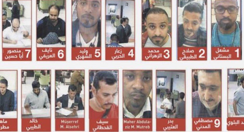 فريق الإغتيال محمد بن سلمان أمر سعود القحطاني استدرج ماهر المطرب نسق صلاح الطبيقي ذبح وشرّح والقنصلية #السعودية مكان التنفيذ. #اغتيال_جمال_خاشقجي