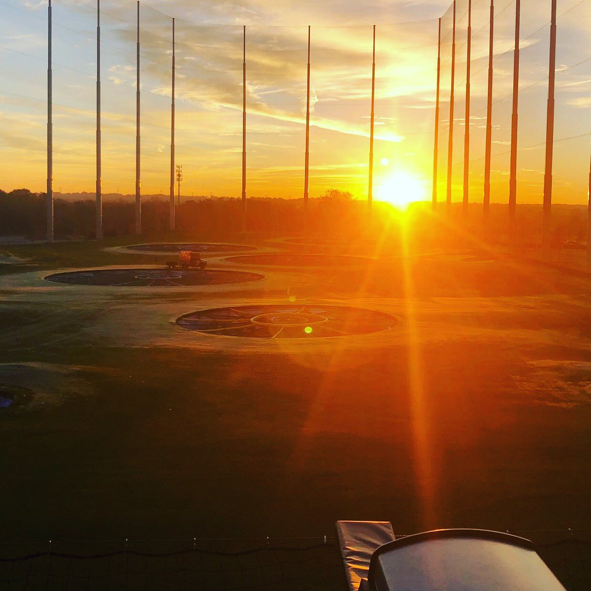 The sunrise over @Topgolf #Columbus is beautiful! We are excited to see it open today ⛳️