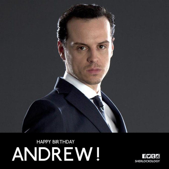 A massive Happy Birthday today to our favourite Consulting Criminal - Andrew Scott!