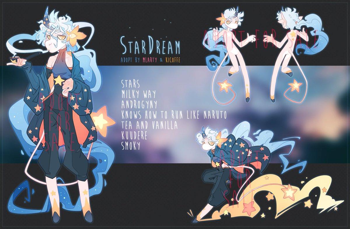 Heya! StarDream adopt auction on DeviantArt! Click on this link for more information: deviantart.com/mlarty/art/Ado…