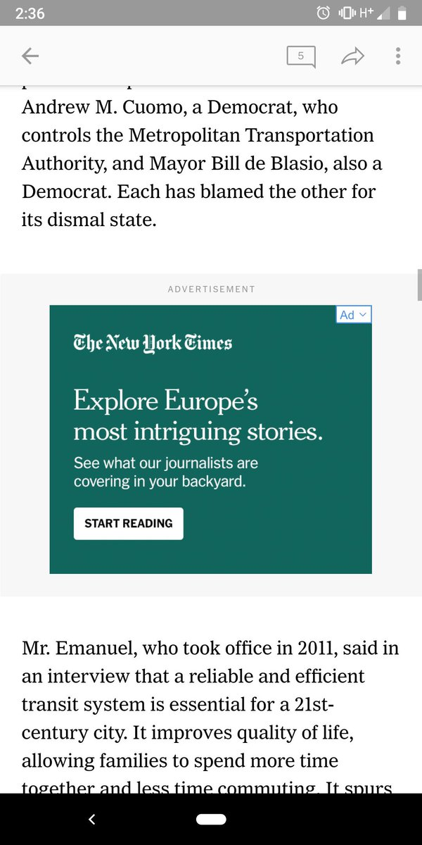Would pay 10x as much for The New York Times to get rid of the ads. There's so many it's not worth it, so I'll probably just cancel.