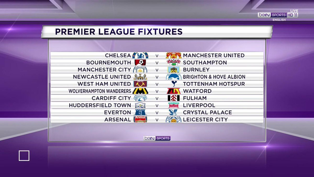 The @premierleague is back in fine fashion! Take a look at all the fixtures 👇  #PL #beINPL