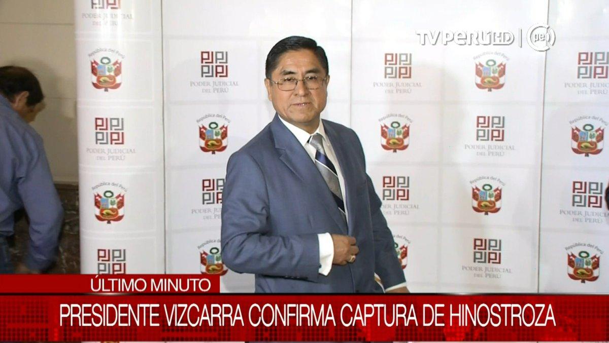 LO ÚLTIMO| Presidente @MartinVizcarraC confirma que destituido juez supremo César Hinostroza fue capturado esta madrugada en Madrid, España #TVPerúInforma