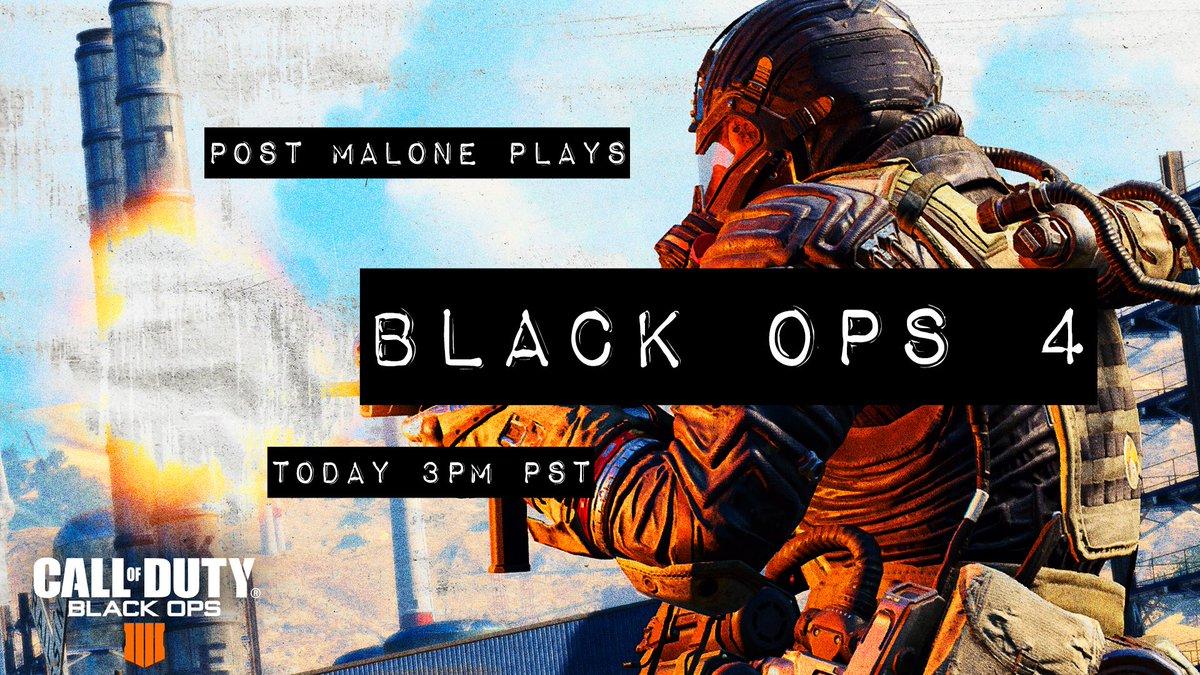 watch me play @callofduty later today :) #ad #blackops4 twitch.tv/callofduty