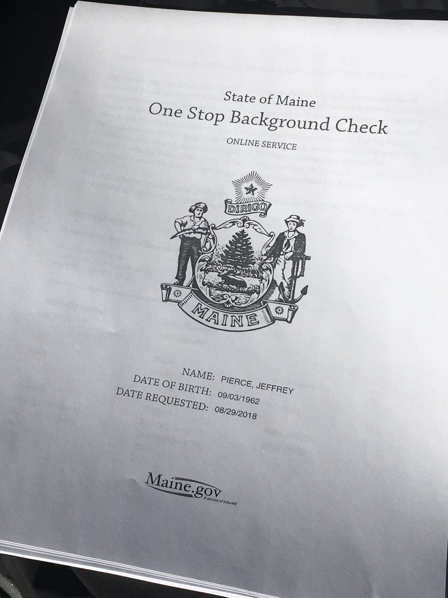 maine dems released a background check that uncovered some past