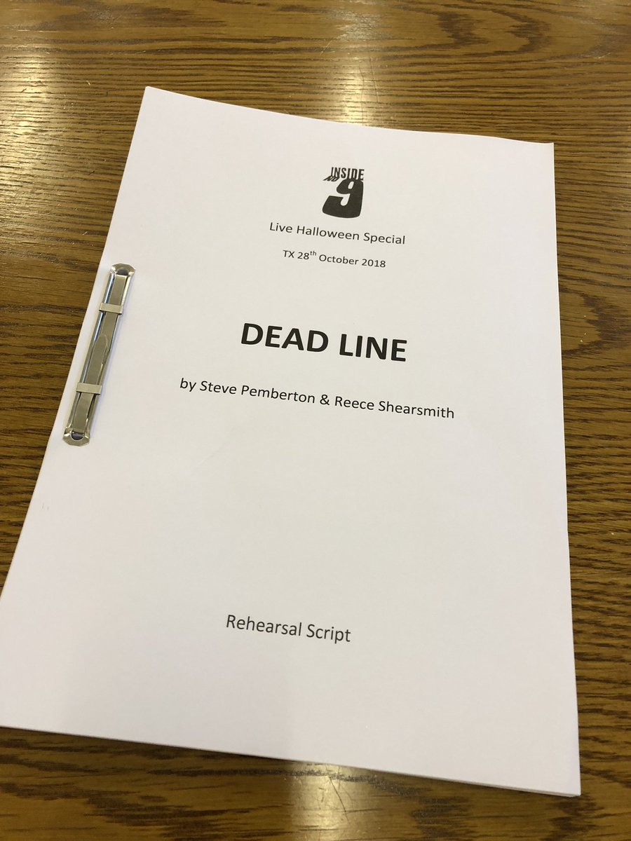 Oh God. Here we go. Read through day. #insideno9LIVE