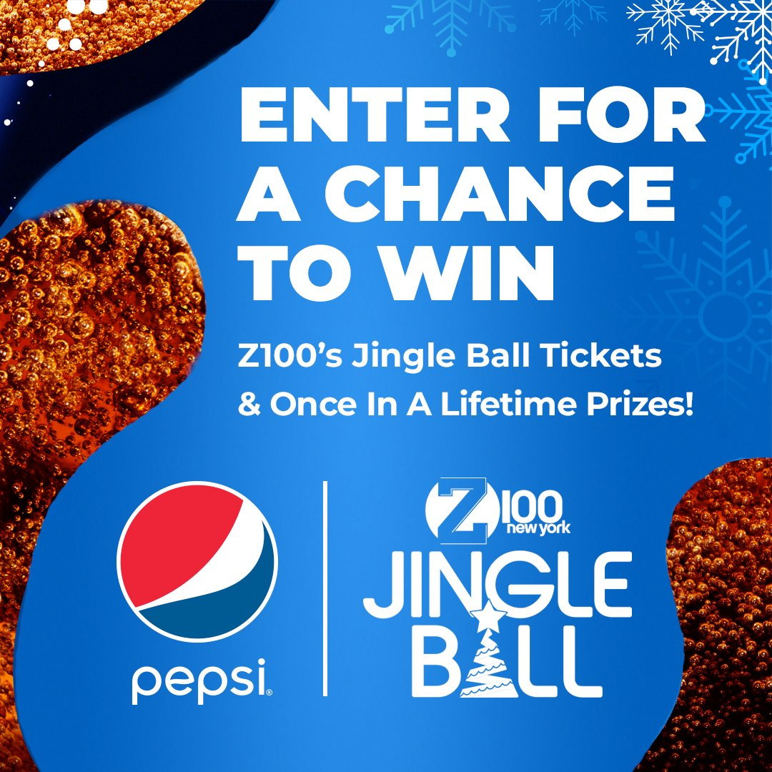 Announcing one of your fave artists from Z100's @pepsi All Access Lounge stage? ✅ Tickets to #Z100JingleBall? ✅ Signed guitar from this year's artists? ✅ @pepsi has your chance! All you have to do, is enter here!  ➡️ https://t.co/pWkyW9lwvF