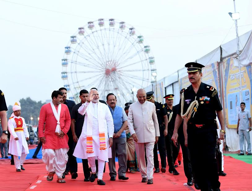 Joined the Vijayadashami programme in Delhi, which was attended by Rashtrapati Ji and several others.