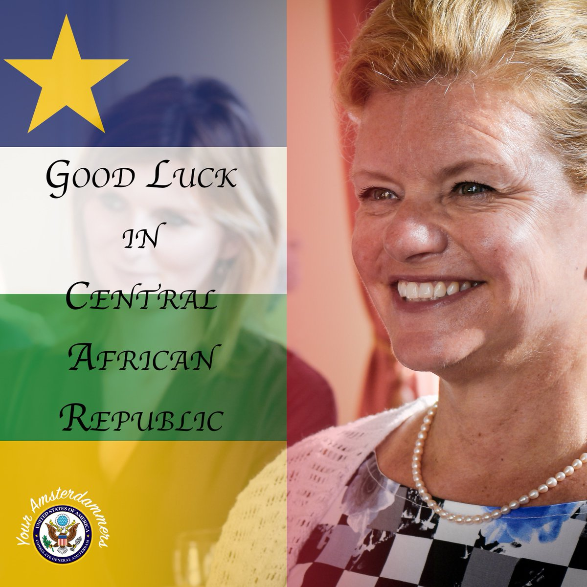Today we said goodbye to Deputy CG Pam & Wood. Good luck in @embassybangui!