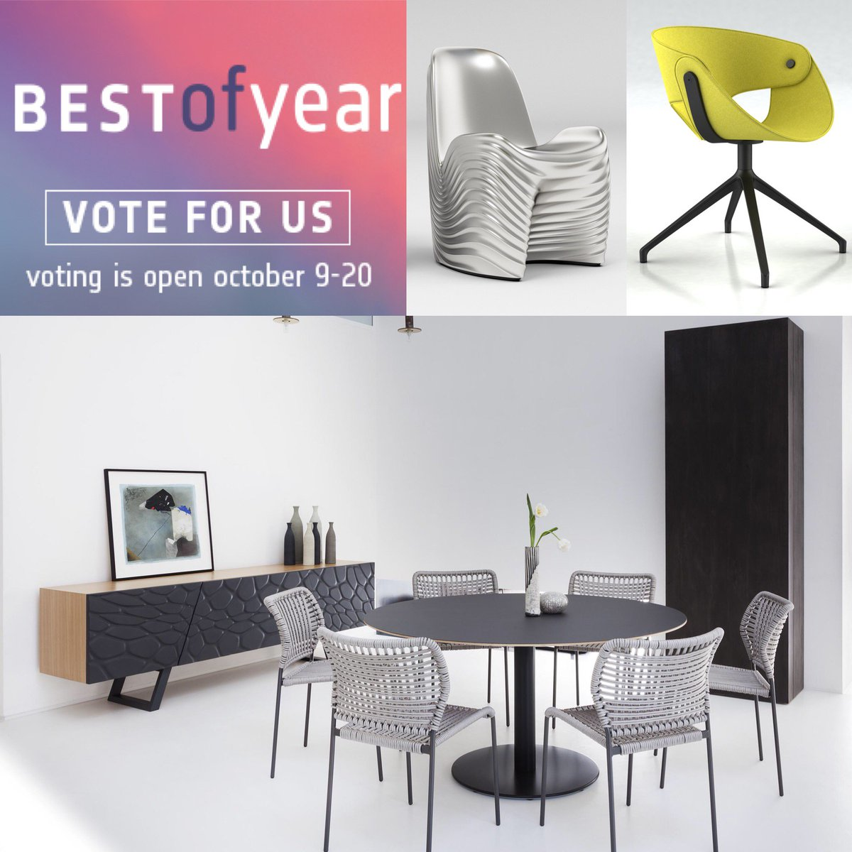 Got a couple of minutes?? Use them wisely and vote for us in the Interior Design Magazine #BoYAwards 😏 https://t.co/CLDno8XD4X  #fingerscrossed #winner