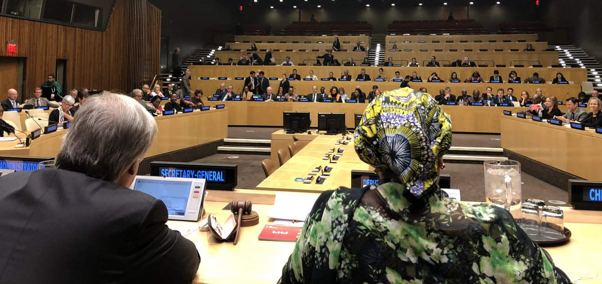 .@antonioguterres tells the @UN_SDG Resident Coordinators that in challenging times for multilateralism, the @UN has to reform not just for the sake of reform but to become more effective & efficient in delivering results for people & planet especially at the country level. #SDGs – at ECOSOC Chamber, United Nations Conference Building