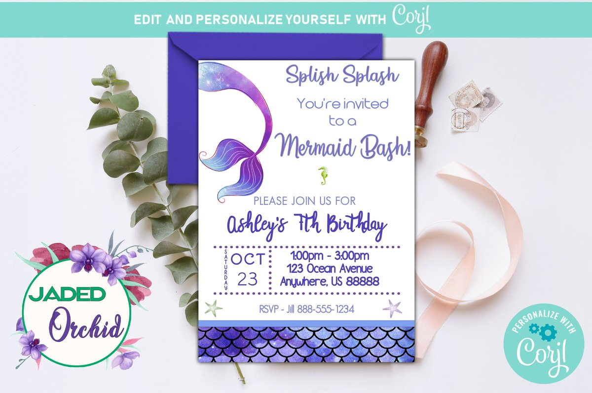Excited To Share The Latest Addition My Etsy Shop Mermaids Tail Birthday Invitation