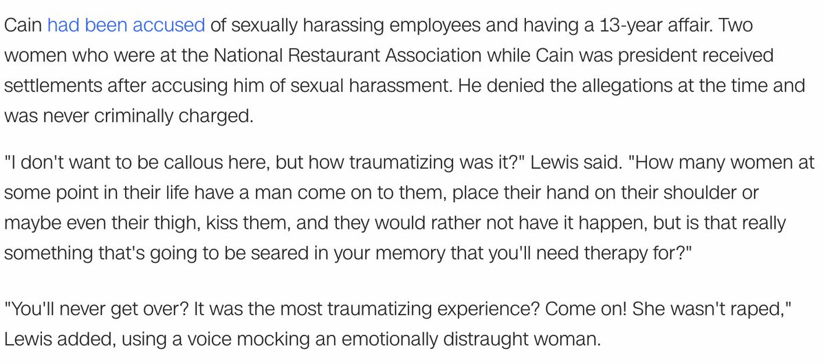Here's Lewis' comment, as he said it he went into a voice mocking/impersonating a crying women. https://t.co/UhLZggTdxq