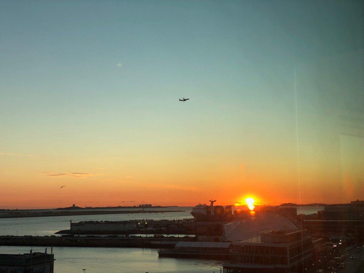 The bad news is I woke up too early. The good news is I saw the Boston sunrise.