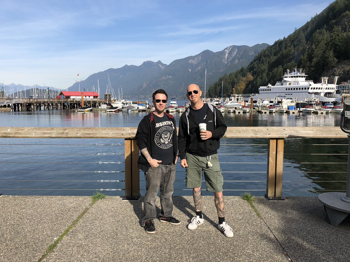 Imonolith hangs in Horseshoe Bay, West Vancouver. Taking Imonolith singer, Jon Howard to the tourists sites on a sunny fall day in Vancouver before band rehearsal. Good things happening within the Imonolith camp. More to come soon!  #Imonolith #westvancouver #rvp #jonhoward