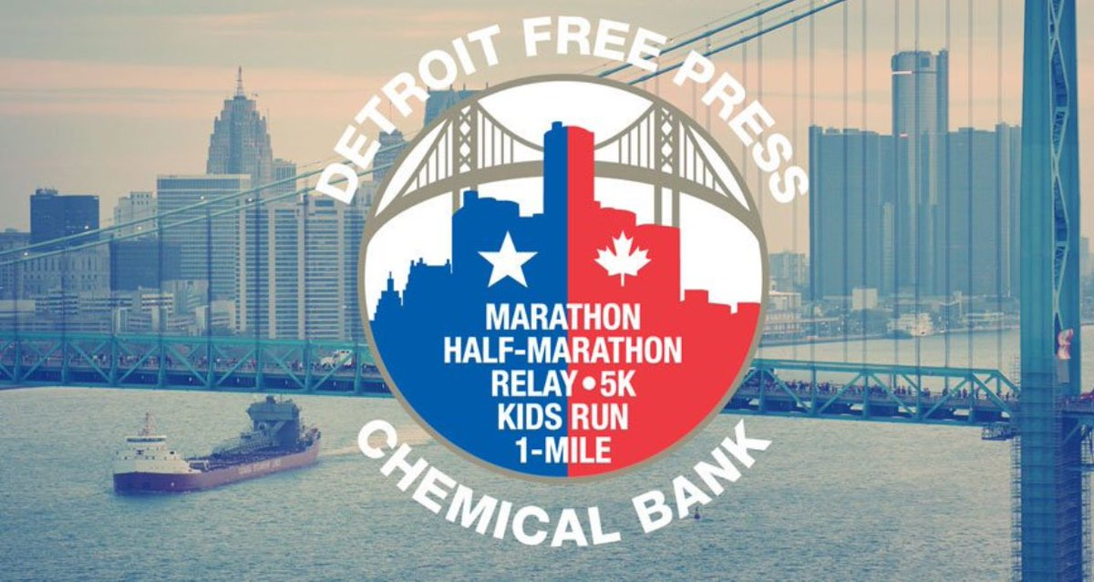 test Twitter Media - GOOD LUCK to all of the runners at the Detroit Free Press Marathon this weekend! Special shout out to teams & runners who have been raising funds in support of @CMHAWECB #detroitmarathon https://t.co/RyUlegyBQD
