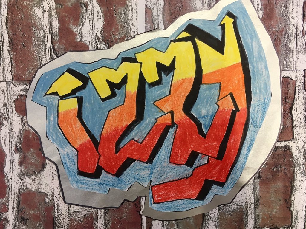 We gave our letters form with line and shading to create graffiti in ks2 art club madleyprimaryscpic twitter com itekay1eqe