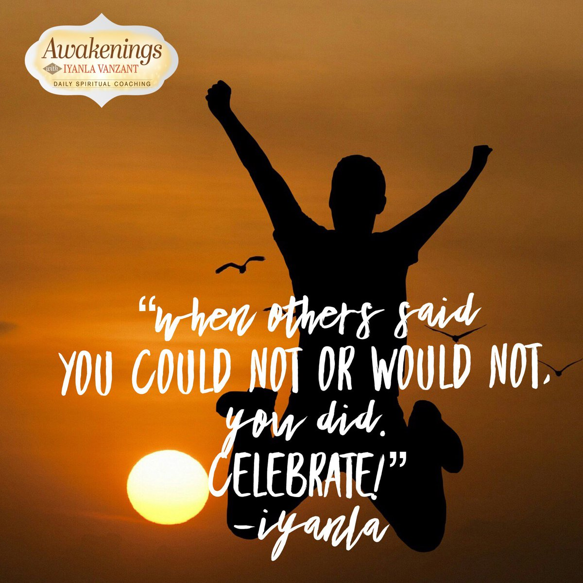 To celebrate is to praise someone or something for all that it is, all that it has done, and all that will result because of it. With this in mind, can see you the value and importance of celebrating yourself? #awakeningsapp