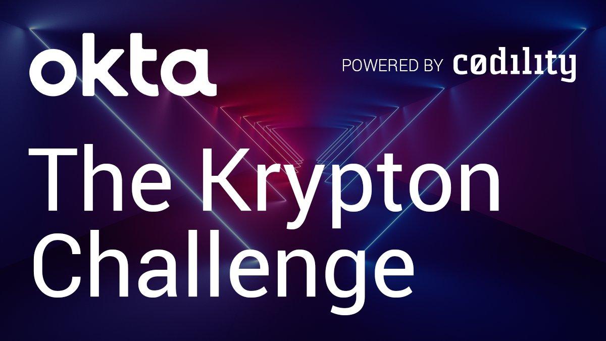 Code blue! The @Okta Krypton #coding Challenge opens