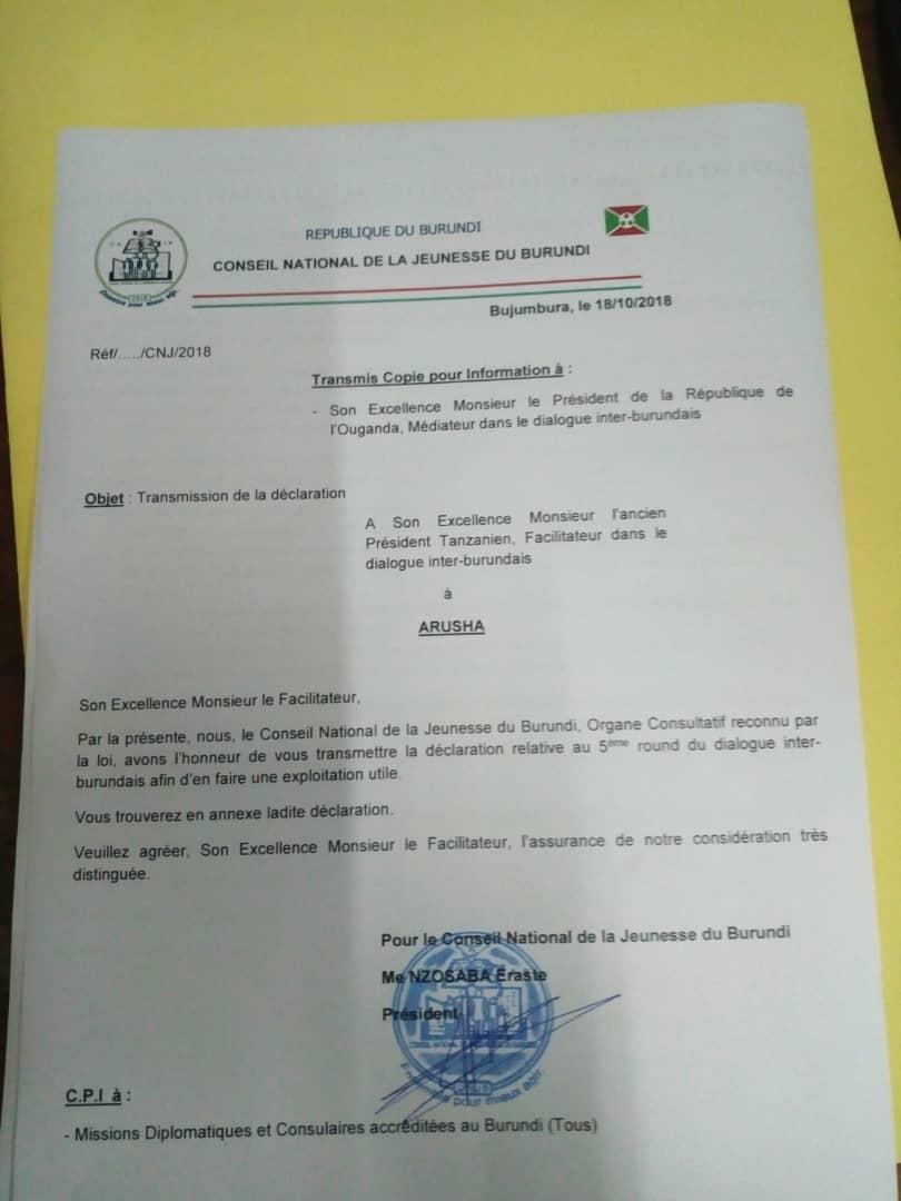 #EAC  « Que le dialogue inter-burundais ne se déroule en octobre, mois où le #Burundi commémore l'assassinat de ses 2 Héros Nationaux », demande du Conseil National de la Jeunesse  (CNJ) qui demande aussi des « clarifications au sujet des critères du choix des invités »  - FestivalFocus