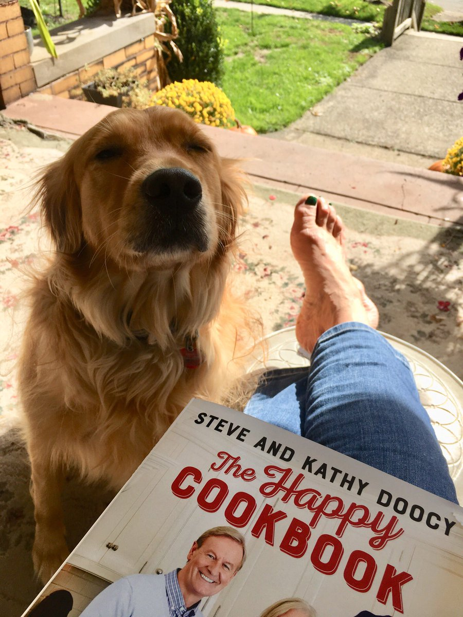 Look what arrived today! 😊Porch sitting & reading with my favorite pup. Happiest of Birthdays! 🎉 @SteveDoocy
