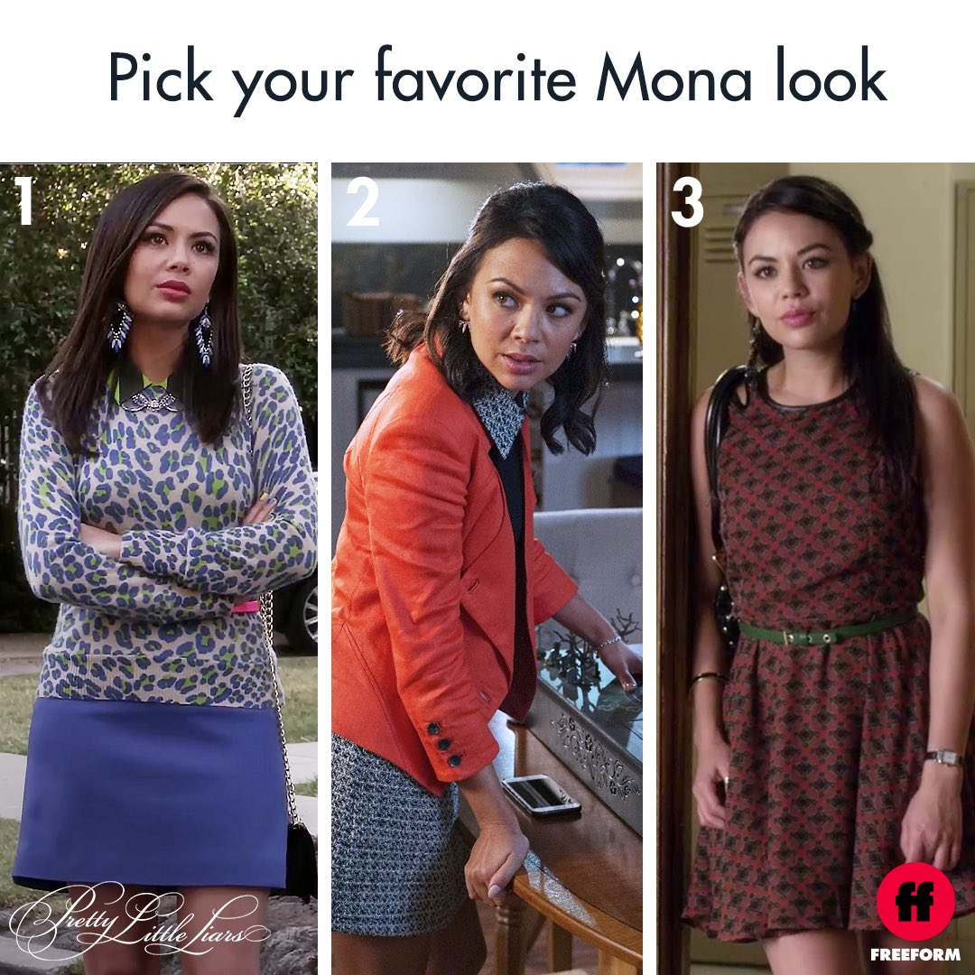 The yellow top Mona stole from Alison is a definite 4th choice. #PrettyLittleLiars