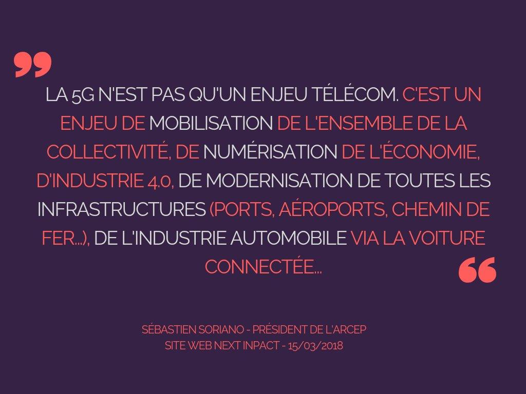 #ArcepxIGF: « Il ne faut surtout pas prendre de retard sur la #5G » (Re)découvrez l\