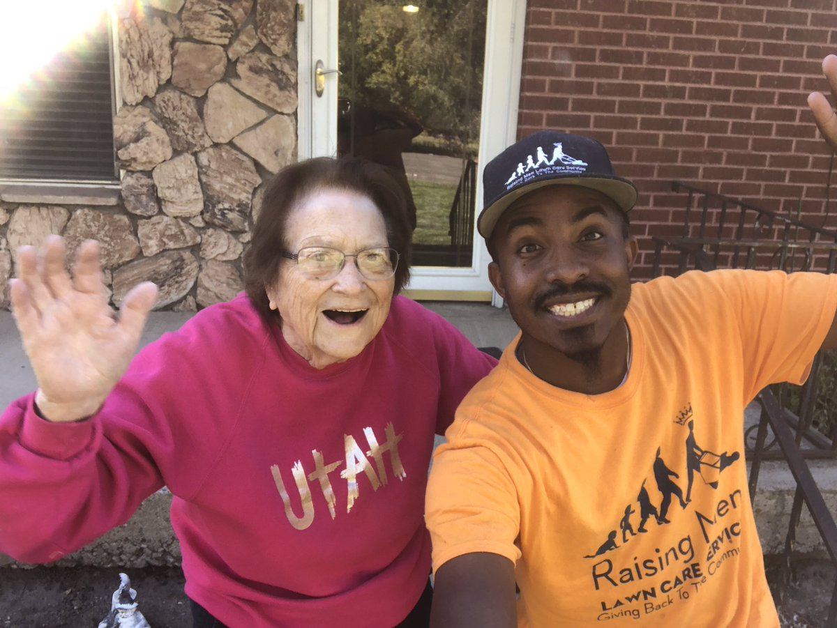 I had the pleasure of mowing Ms. Woodwards lawn in Salt Lake City, UT. Shes such a sweet lady. It was great meeting her. Making a difference one lawn at a time