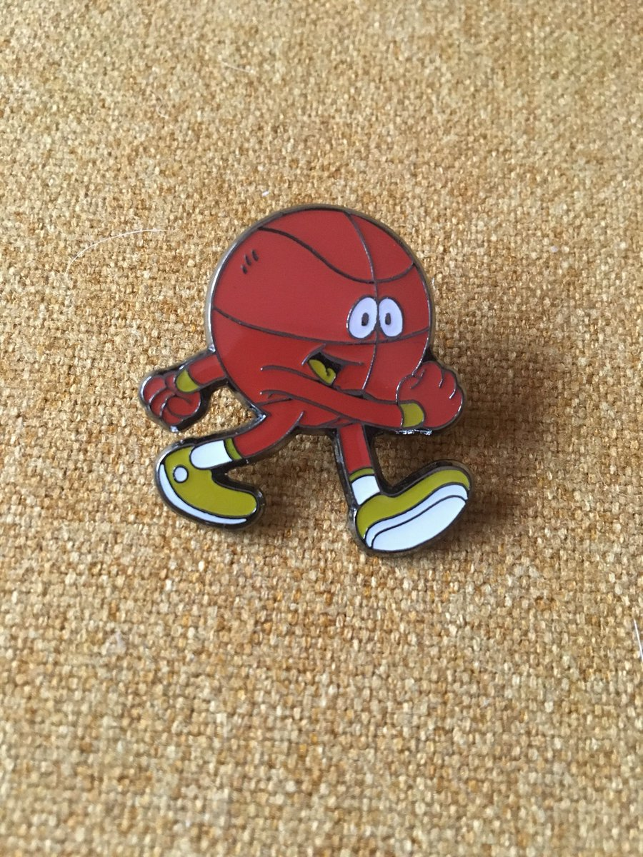 LITTLE BASKETBALL MAN PINS ARE HERE!!!!!! Oh my god look how cute it is!!!!
