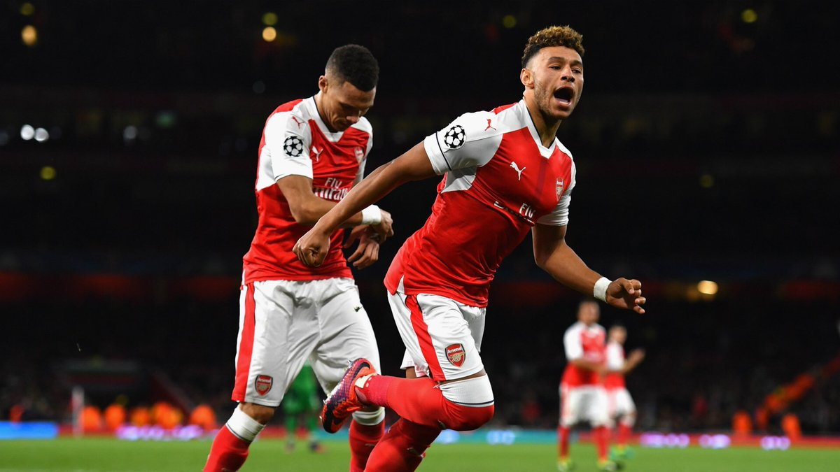 On this day in 2016: Mesut Özil scored a hat-trick as Arsenal comfortably beat Ludogorets 6-0 in matchday #3 of the CL, which was Santi Cazorla's final Arsenal appearance. #afc