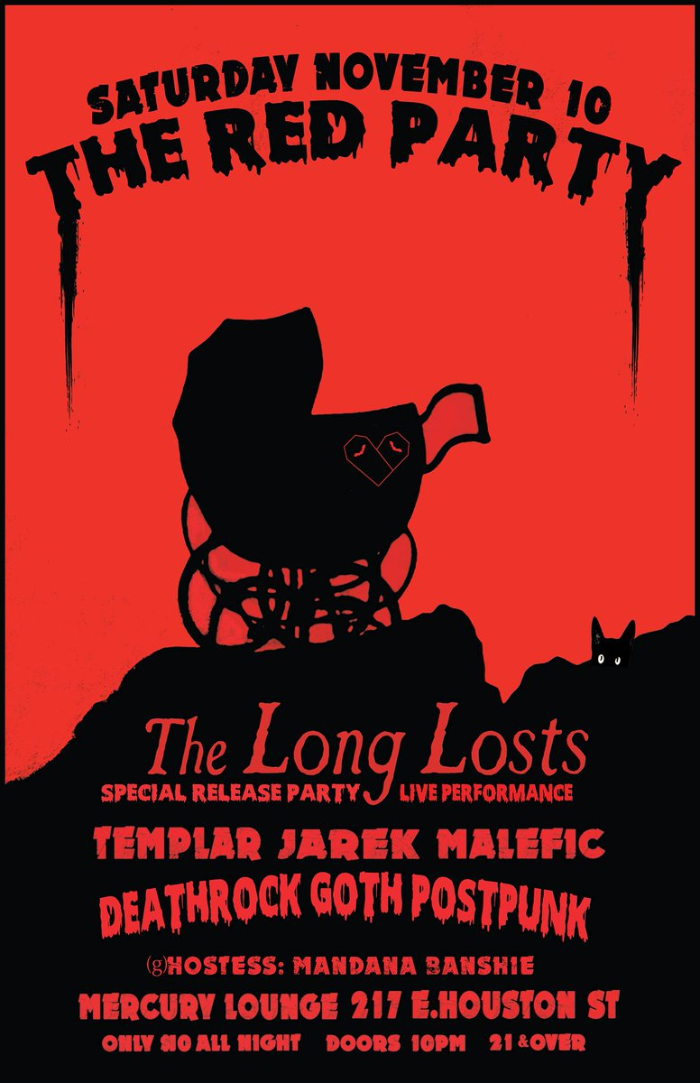 """Mercury Lounge on Twitter: """"The Red Party ft. @LostsThe on Sat. 11 ..."""