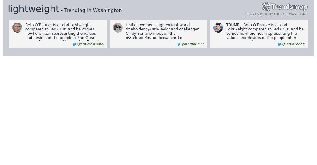 'lightweight' is now trending in #DC  https://t.co/stbwsXzr7N https://t.co/ISRHstAtb2