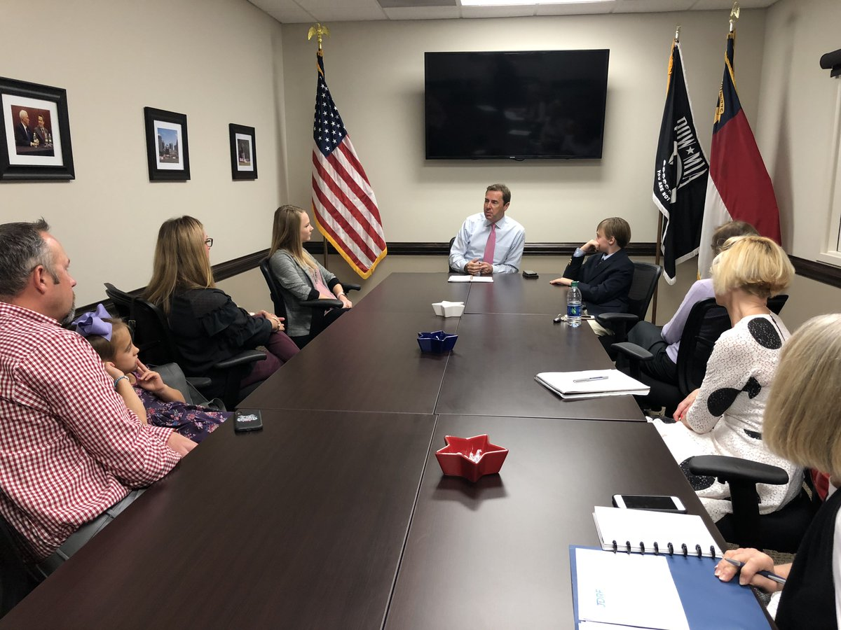 Great meeting this week with @JDRFtriad and Frances Wheeler to discuss Type 1 diabetes and how we can give patients more options, lower costs, and find a cure. It was a pleasure getting to know Cameron and Morgan. #NC06