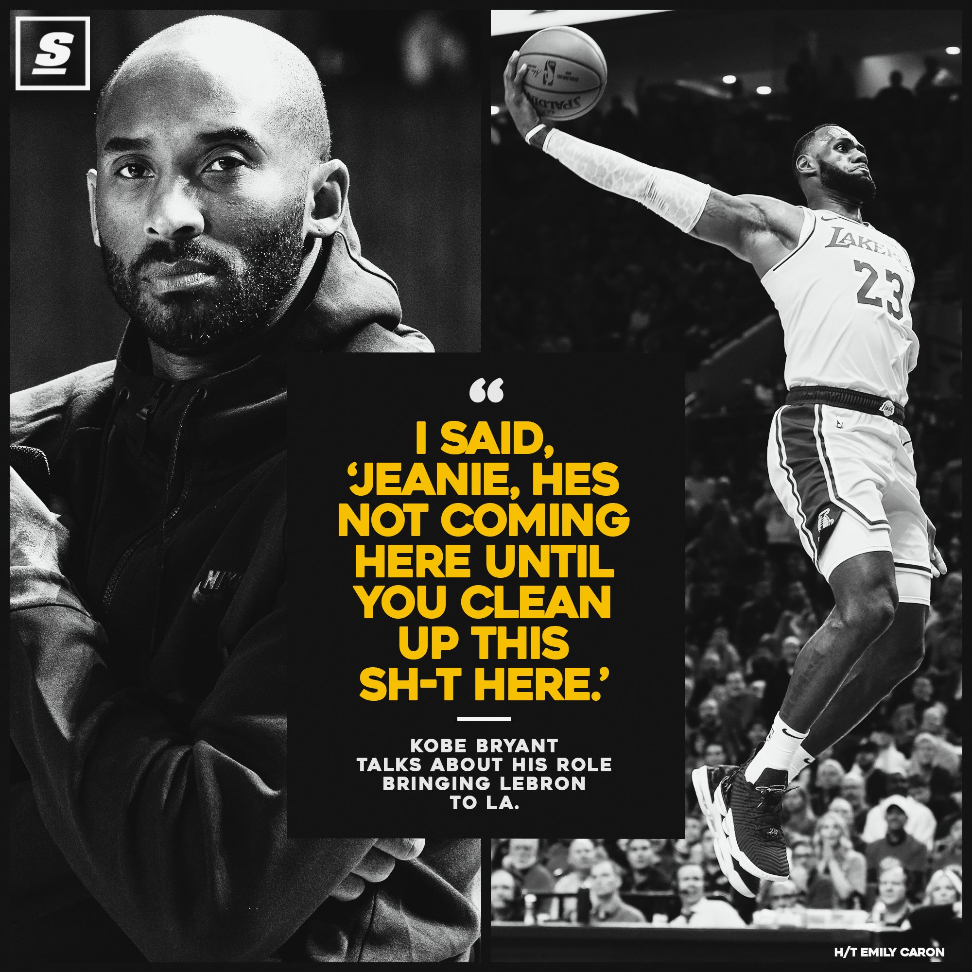 Kobe had some advice for the Lakers on how to land LeBron. https://t.co/1U3sQeQxfS