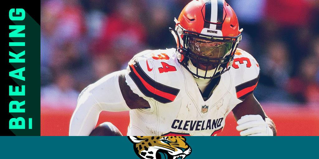 ���� TRADE ALERT ����  The Browns are sending RB Carlos Hyde (@elguapo) to the @Jaguars: https://t.co/o1IvPA4bJJ https://t.co/IpnlhTvvYn