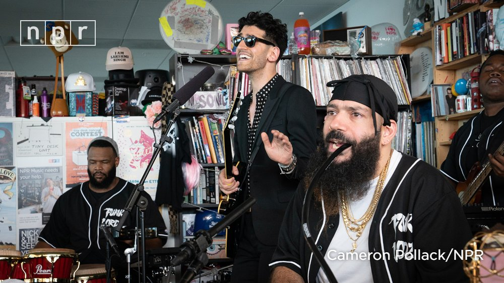 Watch self-proclaimed 'Funklordz' Chromeo's (@Chromeo) performance from the #TinyDesk featuring a live band (and a go-go style breakdown). https://t.co/1Ur9L6F3kb