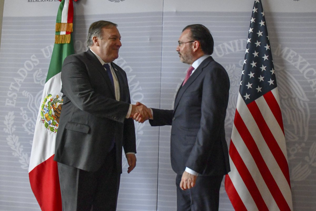Today, @SecPompeo and #Mexico's Foreign Secretary @LVidegaray spoke to reporters following their meeting in Mexico City. https://t.co/Zduuax29RJ