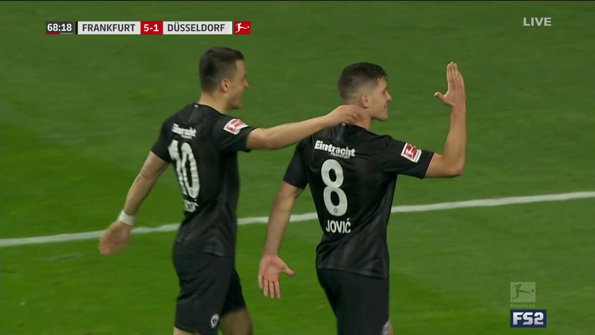 Make that FOUR goals! What a night for Luka Jović! 🔥