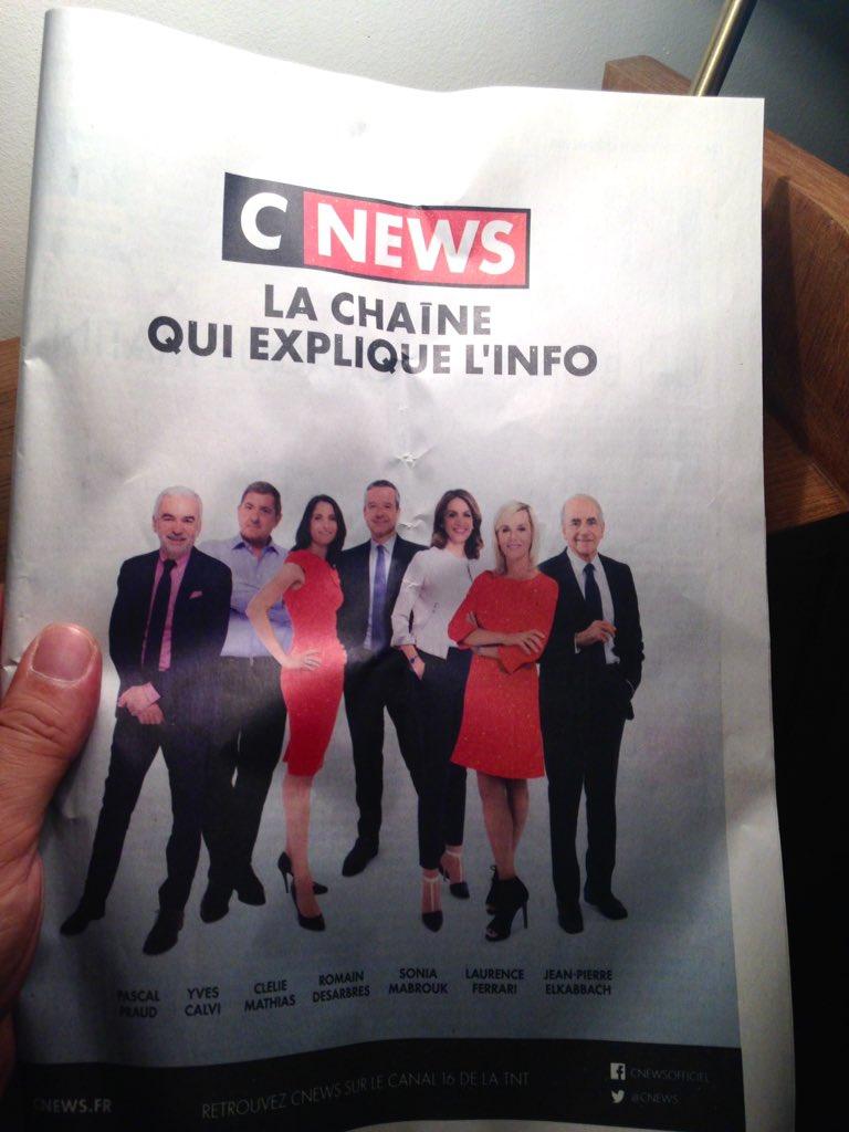 Propagande Bolloriste pour #Cnews (parue ce jour), j\