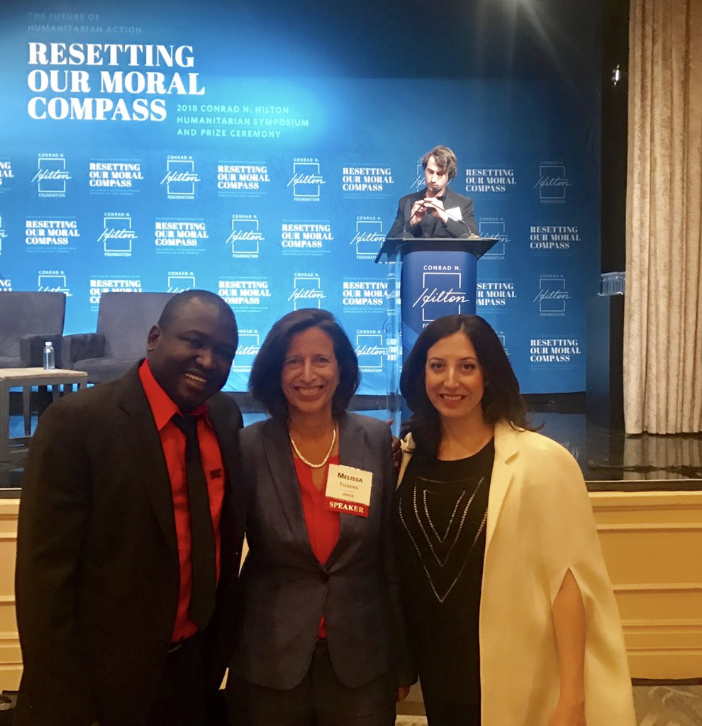 So inspired by the work of @hope2shine and its visionary founders, @KennedyOdede & @JessRPosner They are transforming the slums of Kenya with a community-led movement & educating girls to become future leaders to end urban poverty. Winners: #HiltonPrize