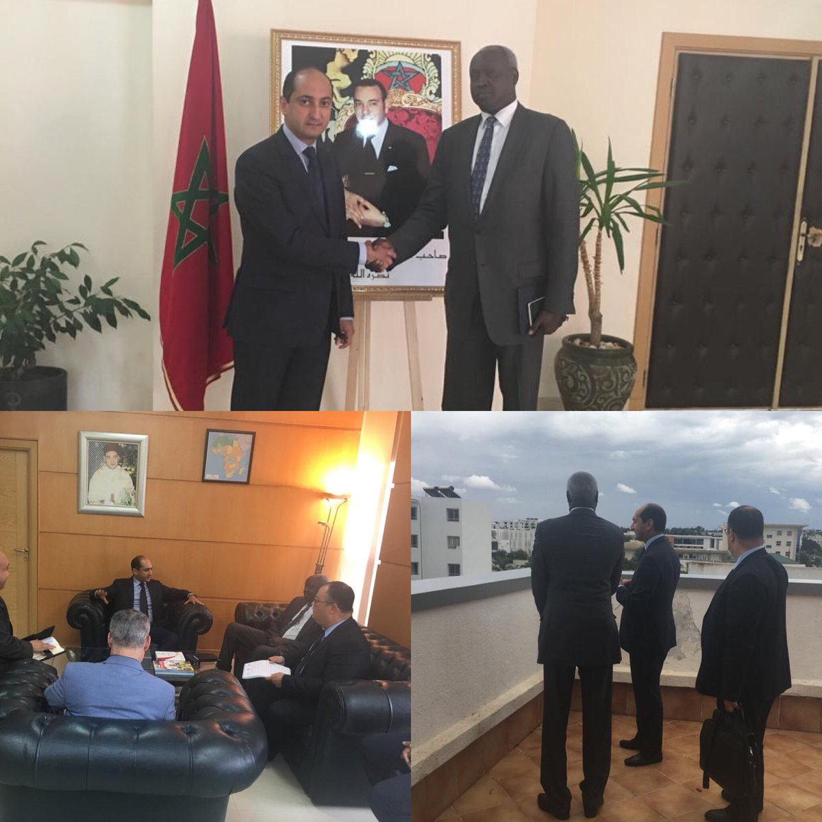#Rabat #AMCI visite du Ministre des Affaires Etrangeres du #SudSoudan M. Nhial Deng Nhial au siege de #AMCI ce vendredi après-midi 19oct2018.#Maroc @MarocDiplomatie #AMCI #cooperation #africa  - FestivalFocus